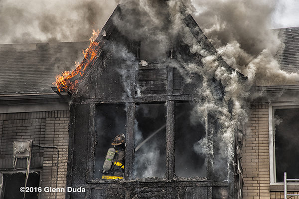 Detroit firefigher overhauls after fire