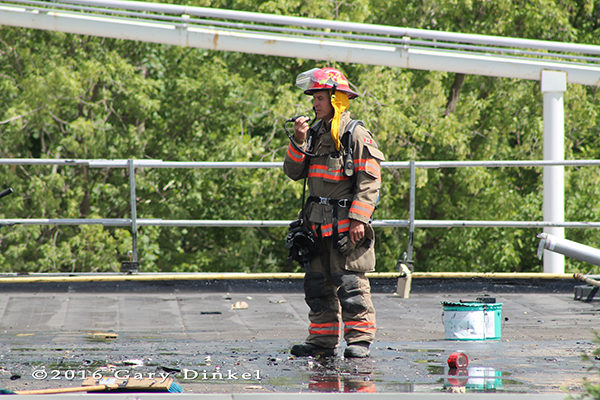 Kitchener Ontario firefighters at work
