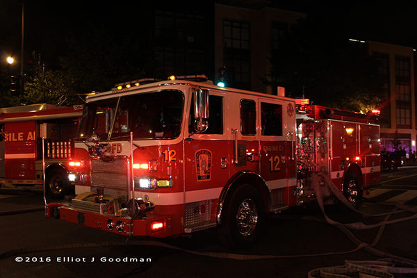 DCFD Engine 12 at a fire scene