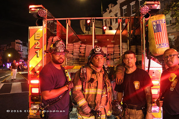 DCFD firefighters after battling a fire
