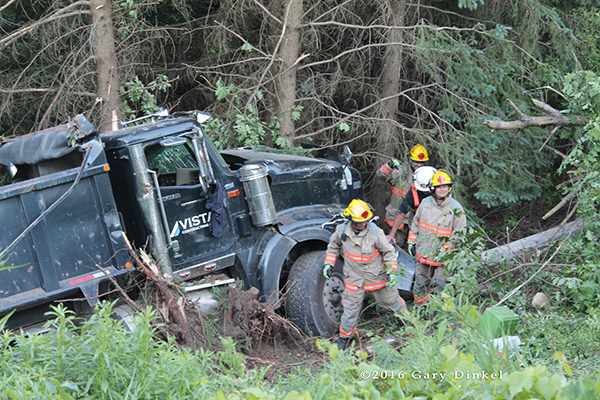 crash site in North Dumfries Township Ontario