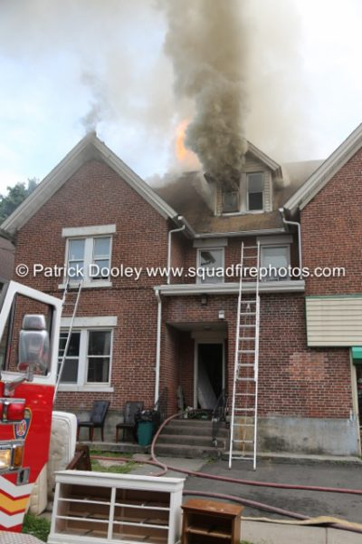 smoke from attic at house fire