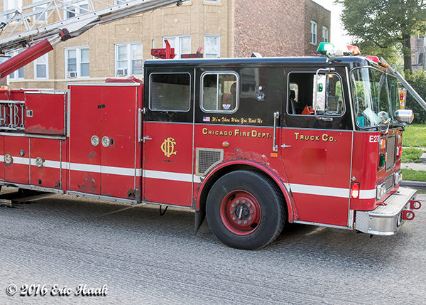 old Seagrave truck still in use in Chicago