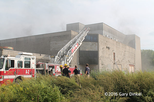 building fire in Kitchener Ontario