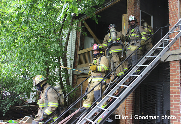 DC firefighters after a fire