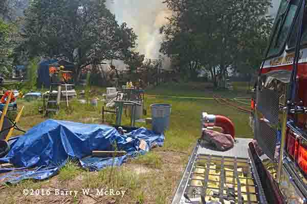 doublewide trailer home destroyed by fire