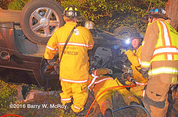 Colleton County (WC) firefighters operate at crash site