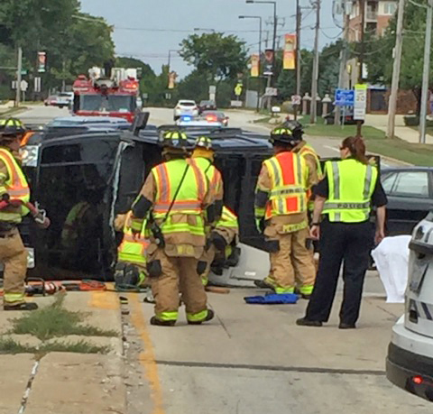 roll over crash in Buffalo Grove