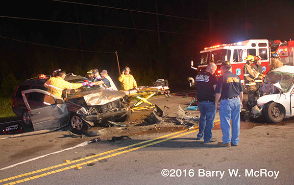 fatal crash scene in Colleton County SC