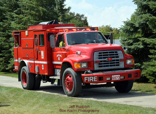 Former US Forestry Service fire engine