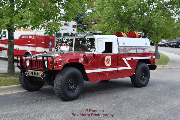 fire department Humvee