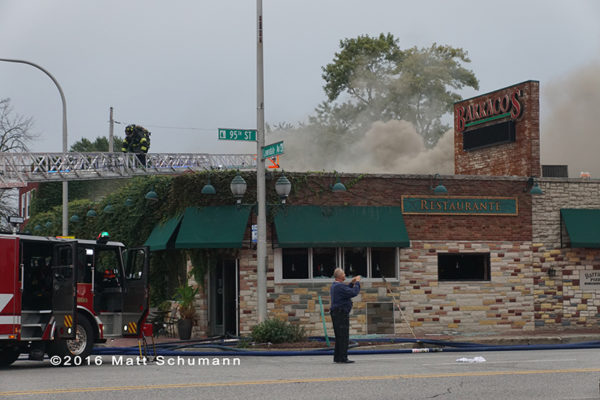 restaurant fire in Evergreen Park