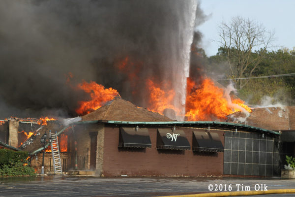 massive fire destroys restaurant