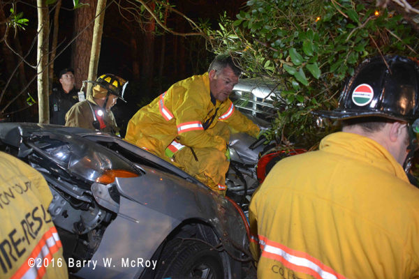 Colleton County firefighters cut victims from a crushed car