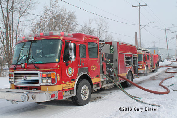 Cambridge Ontario fire engine