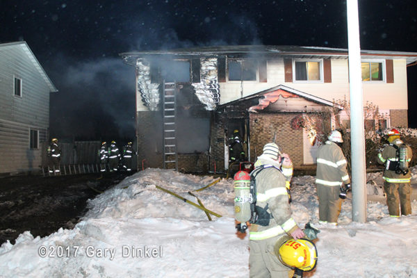 townhouse fire in Canada