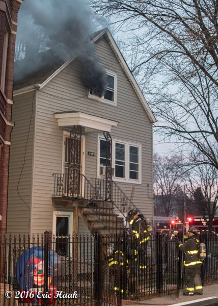 smoke from attic during house fire