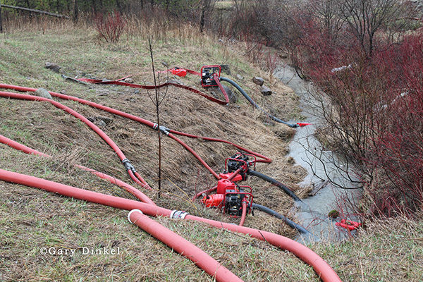 fire pumps drafting water