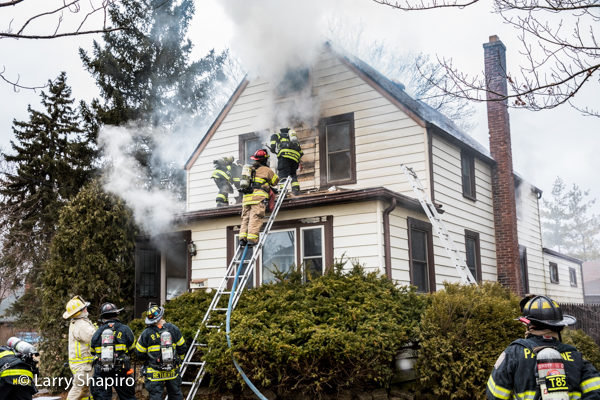 Firefighters vent house on fire