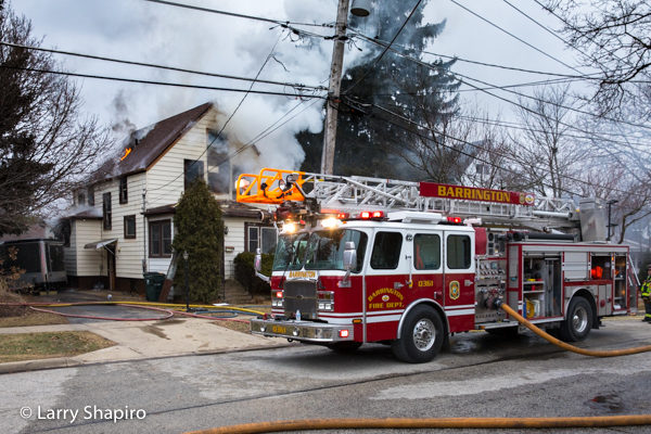 E-ONE Cyclone II quint at house fire