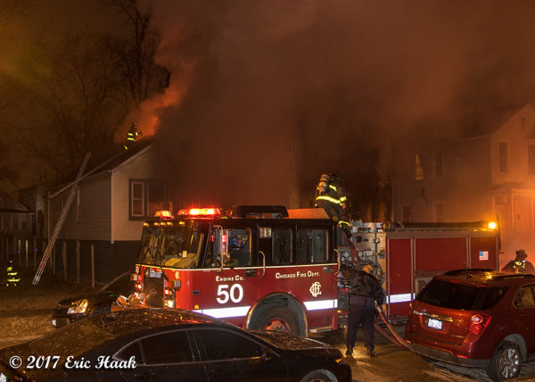 Chicago FD Engine 50 at a fire