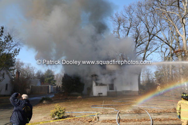 heavy smoke from house on fire