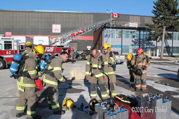 Kitchener firefighters on scene