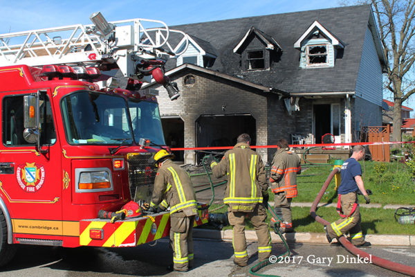 Cambridge Ontario fire scene