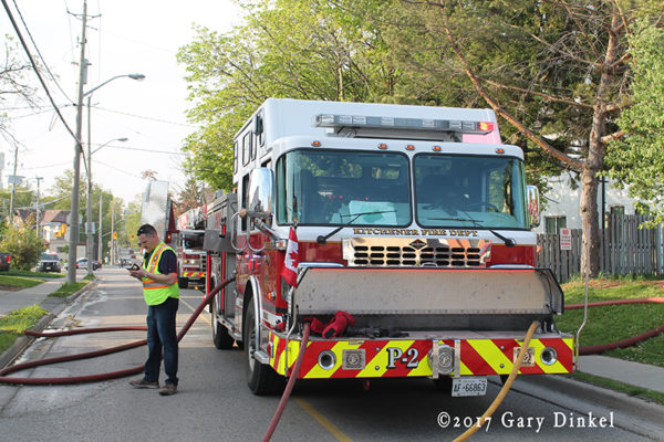 Kitchener firefighters at work