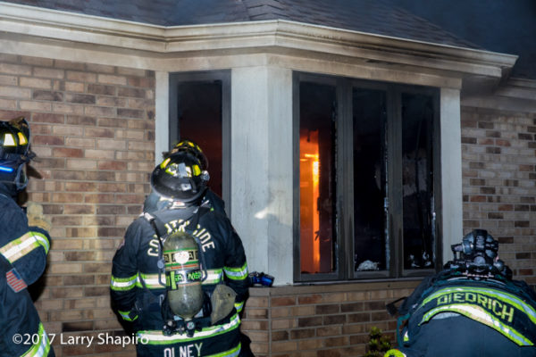 firefighter at house fire