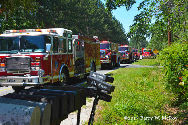 Colleton County Fire Rescue (SC) apparatus on scene
