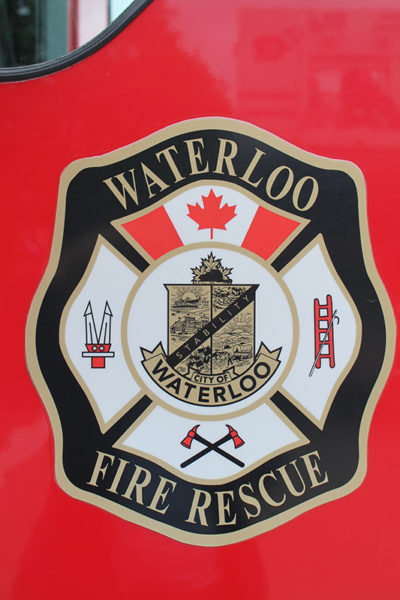 Waterloos ON fire department decal