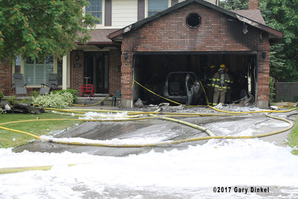 aftermath of garage fire