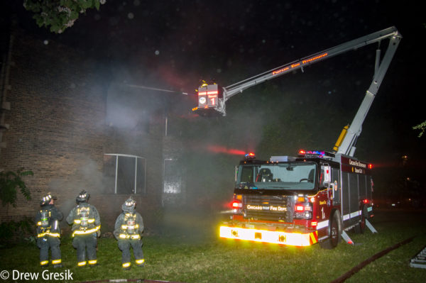 Chicago FD Squad 1A working with a  master stream