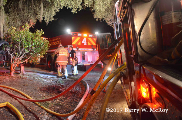 Colleton County Fire Rescue firefighters at work