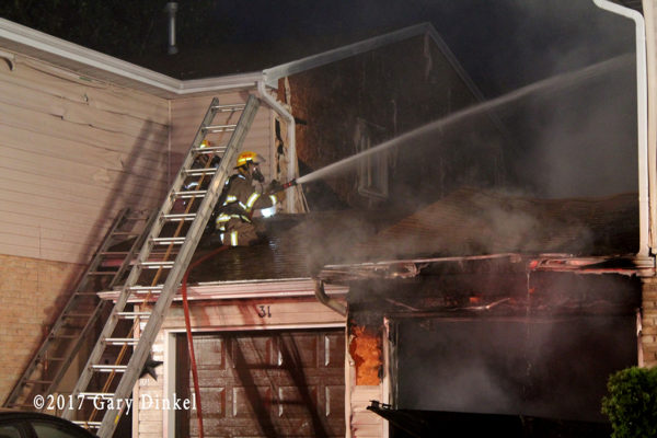 Kitchener firefighter at a fire scene