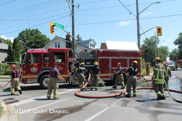 Cambridge ON firefighters on scene