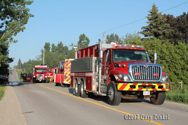 fire trucks in Wellesley Township Ontario