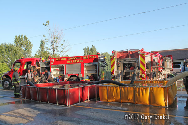 tanker operations at a house fire in Wellesley Township ON