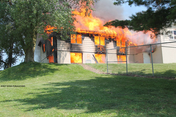 fire department burn down of vacant house
