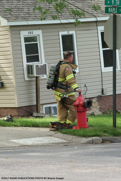 firefighter at a hydrant