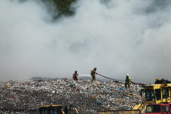 fire in a landfill
