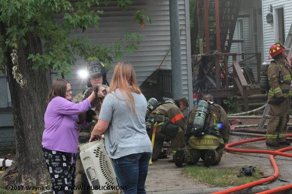 pets rescued from house fire
