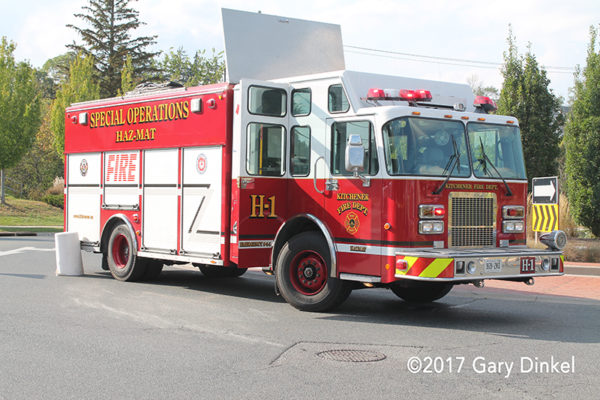kitchener FD haz mat unit