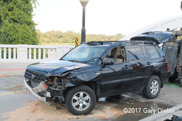 SUV after a crash