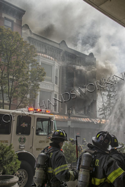 New Haven fire scene