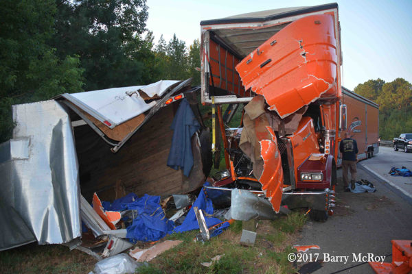 highway tractor-trailer crash