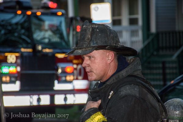Chicago Firefighter with dirty face