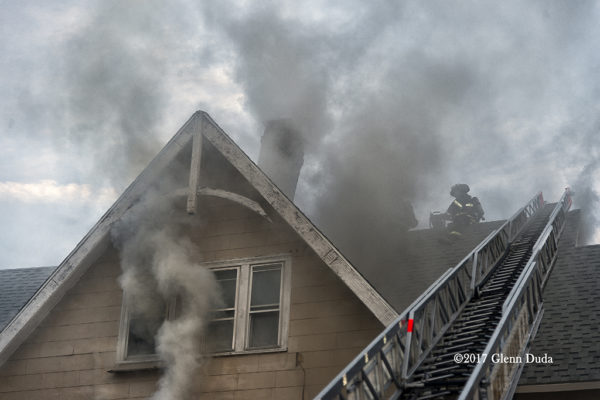 heavy smoke from house fire in New Haven