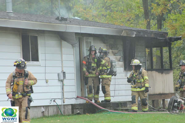 Wausau firefighters at house fire